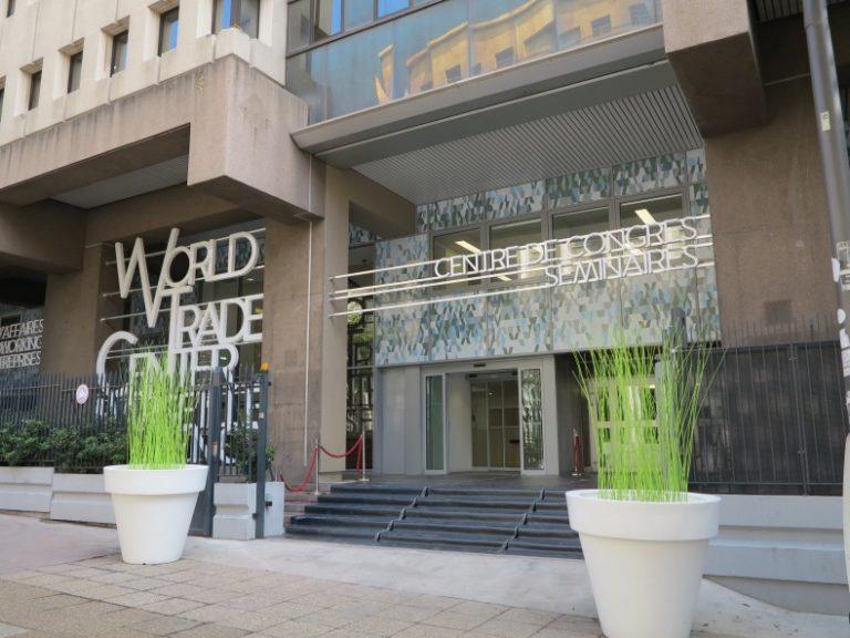Le centre de congrès du WTC a fait peau neuve, transformation confiée au cabinet d'architecture marseillais Tangram.